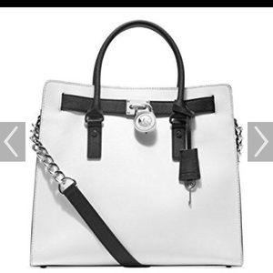 Michael Kors Hamilton bag black and white